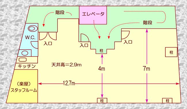 ホールの見取り図